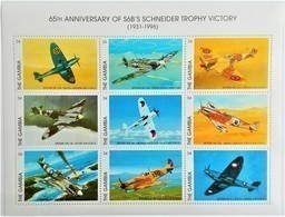 Gambia 1996**Mi.2476-84. Scheider Trophy Victory , MNH [6;1] - Flugzeuge