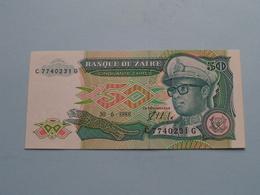 Cinquante Zaïres 50 ( C 7740231 G ) 30-6-1988 Banque Du ZAIRE ( For Grade, Please See Photo ) ! - Zaire