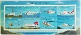 Guinee 1998**1998**Mi.2137-44 Helicopters , MNH  [12;55] - Eisenbahnen