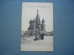 MOSCOU - MOCKBA - CATHEDRALE DE ST BASILE BLAJENNOY - Russia