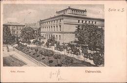 ! 1899 Alte Ansichtskarte Aus Halle An Der Saale, Universität, Gelaufen Nach Botosani, Rumänien - Halle (Saale)