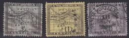 Panama, Scott #10-12, Used, Map, Issued 1887 - Panama