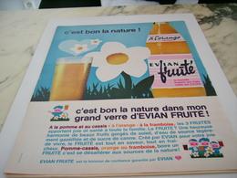 ANCIENNE PUBLICITE BON LA NATURE EVIAN FRUITE 1964 - Affiches