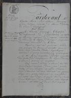 Manuscrit De1832.Charles Desfrançois De Pontchalon à Radon,vend à René Poulet,inspecteur Des Forêts,maison à Alençon - Manoscritti