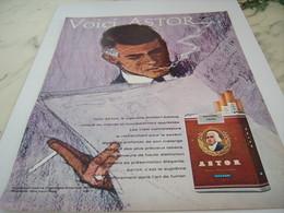 ANCIENNE PUBLICITE VOICI CIGARETTE ASTOR AMERICAN BLEND 1964 - Tabac (objets Liés)