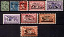 Memel (Klaipeda) 1922 Mi 85-87; 89-90; 92; 94-95; 97 * [260819VII] - Memelgebiet