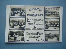 CASABLANCA - RESTAURANT DES AMBASSADEURS - PLACE NICOLAS PAQUET - Casablanca