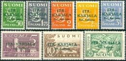 FINLAND 1941-42 Oost Karelien Opdruk Groen PF-MNH-NEUF - Finland