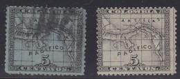 Panama, Scott #10, 10, Used, Map, Issued 1887 - Panama