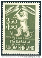 FINLAND 1943 Leeuw PF-MNH-NEUF - Finland