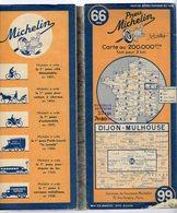 Carte Géographique MICHELIN - N° 066 DIJON - MULHOUSE 1940 (prix Modifié 15/10/44) - Cartes Routières