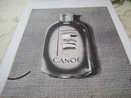 ANCIENNE  PUBLICITE EAU DE COLOGNE CANOE DE DANA 1964 - Perfume & Beauty