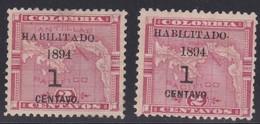 Panama, Scott #22-23, Mint Hinged/No Gum, Map, Issued 1894 - Panama