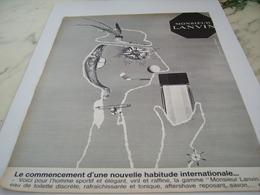 ANCIENNE PUBLICITE PARFUM DE LANVIN ARPEGE 1964 - Perfume & Beauty