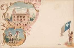 *CPA :- EXPO UNIVERSELLE. 1900 - CUBA -RECTO - LITHOGRAPHIE - DOS NEUTRE - 1900 – Paris (France)