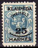 Memel (Klaipeda) 1923 Mi 124 * [260819VII] - Memelgebiet