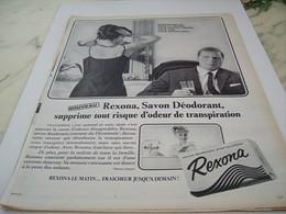 ANCIENNE PUBLICITE DEODORANT SAVON REXONA 1964 - Perfume & Beauty