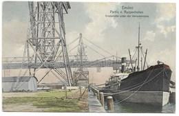 EMDEN-Partie V. Aussenhafen - Erzdampfer Unter Des Verladebrücke...1910  Animé  Bâteau  (petite Fente En Haut) - Emden