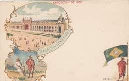 *CPA :- EXPO UNIVERSELLE. 1900 - BRÉSIL -RECTO - LITHOGRAPHIE - 1900 – Paris (France)