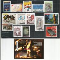 Année Complète 2018.  14 Timbres + 1 Bloc-Feuillet (Feux De La St Jean) Neufs ** - Unused Stamps