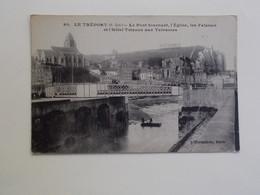 Carte Postale  - LE TREPORT (76) - Le Pont Tournant L'Eglise Les Falaises Et Hôtel Trianon (3396) - Le Treport