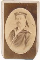 PULA - POLA  PHOTOGRAPHER Atelje L. MIONI Around 1880s Navy Sailor Man Portret Old Photo Cdv Carte De Visite - Persone Anonimi