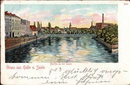 ! 1901 Alte Ansichtskarte Gruss Aus Halle An Der Saale - Halle (Saale)