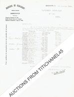 SUCRERIE DE REMICOURT 1940 Tonnage De Betteraves Récoltées Par Cultivateurs Pour La Campagne De 1939 - Belgique