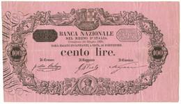 100 LIRE BANCA NAZIONALE NEL REGNO D'ITALIA MATRICE GIÀ BANCA D'ITALIA 24/06/1895 BB+ - Altri