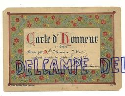 Carte D'Honneur De Maria Jottier. Septembre 1915. Edit. Leon Beyaert - Siden. Dorée - Autres