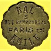 Nécessité - Jeton De Bal - RENAUDIN Emile (en Laiton !!) - Paris 20ème - Monétaires / De Nécessité