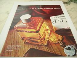 ANCIENNE  PUBLICITE CHEVEUX SAINS DE PANTENE 1964 - Perfume & Beauty