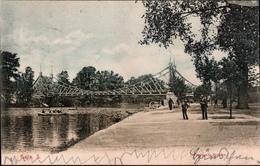 !  Alte Ansichtskarte Aus Halle An Der Saale, 1906, Peissnitzbrücke, Bahnpoststempel - Halle (Saale)