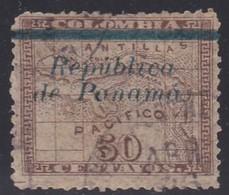 Panama, Scott #138, Used, Map Overprinted, Issued 1903 - Panama