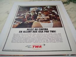 ANCIENNE PUBLICITE VOYAGE CINEMA TWA USA 1964 - Advertisements