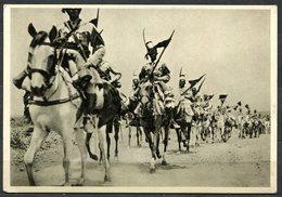 """CV2770 MILITARI COLONIALI 1936 """"Penne Di Falco"""", Cavalleria Indigena Verso Addis Abeba, Gruppo Squadroni Eritrei, FG, Ed - Regiments"""