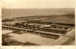 CPA -  DEAUVILLE - VUE DES JARDINS - Deauville
