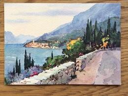Italy, Lago Di Garda Malcesine Panorama U. Marotto - Schilderijen