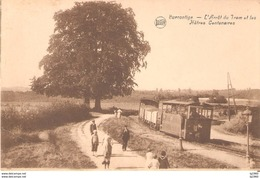 224) BURNONTIGE - L'Arrêt Du Tram - L'état Excellent!!! - Ferrieres