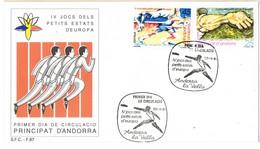 33724. Carta F.D.C. ANDORRA Española 1991. Juegos, SPORT. Pequeños Estados De Europa - Andorra Española