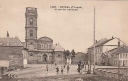 ***  88  ***  ETIVAL  Place De L'abbaye - TTB  Timbrée - Etival Clairefontaine