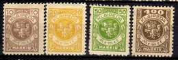 Memel / Klaipeda 1923 Mi 141-142; 145; 148 * [260819VII] - Memelgebiet