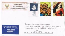 33725. Carta Aerea GLENDALE (Ca) 2007. Fantastic Four, - The Thing And Elektra - Cartas