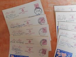 Lot 10 Entiers Postaux Publibels, National Loterij, Pour Cachets  (T8) - Stamped Stationery