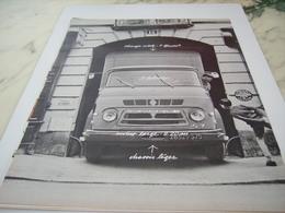 ANCIENNE PUBLICITE LE MOINS LARGE CAMION SAVIEM  RENAULT 1964 - Trucks