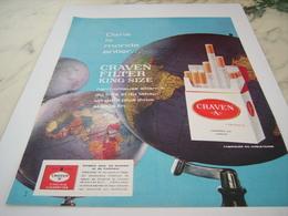 ANCIENNE PUBLICITE CIGARETTE CRAVEN  1964 - Tabac (objets Liés)