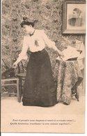 """L60A253 - Souvenir D'une Mère - """"Faut-il Prendre Mon Chapeau ..."""" - Carte 5 Sur 6 - Femmes"""