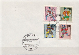 Germany Full Set On Cover With FD Cancel - Puppets