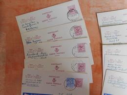 Lot 10 Entiers Postaux Publibels, National Loterij, Pour Cachets  (U8) - Stamped Stationery