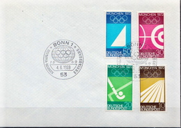 Germany Full Set On Cover With FD Cancel - Summer 1972: Munich